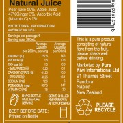 Apple/Pear/Ginger Back Label