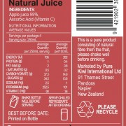 Cloudy Apple Back Label