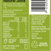 Feijoa Back Label