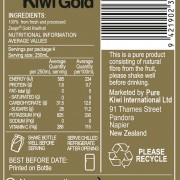 Kiwi Gold Back Label