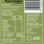 Kiwi Green Back Label